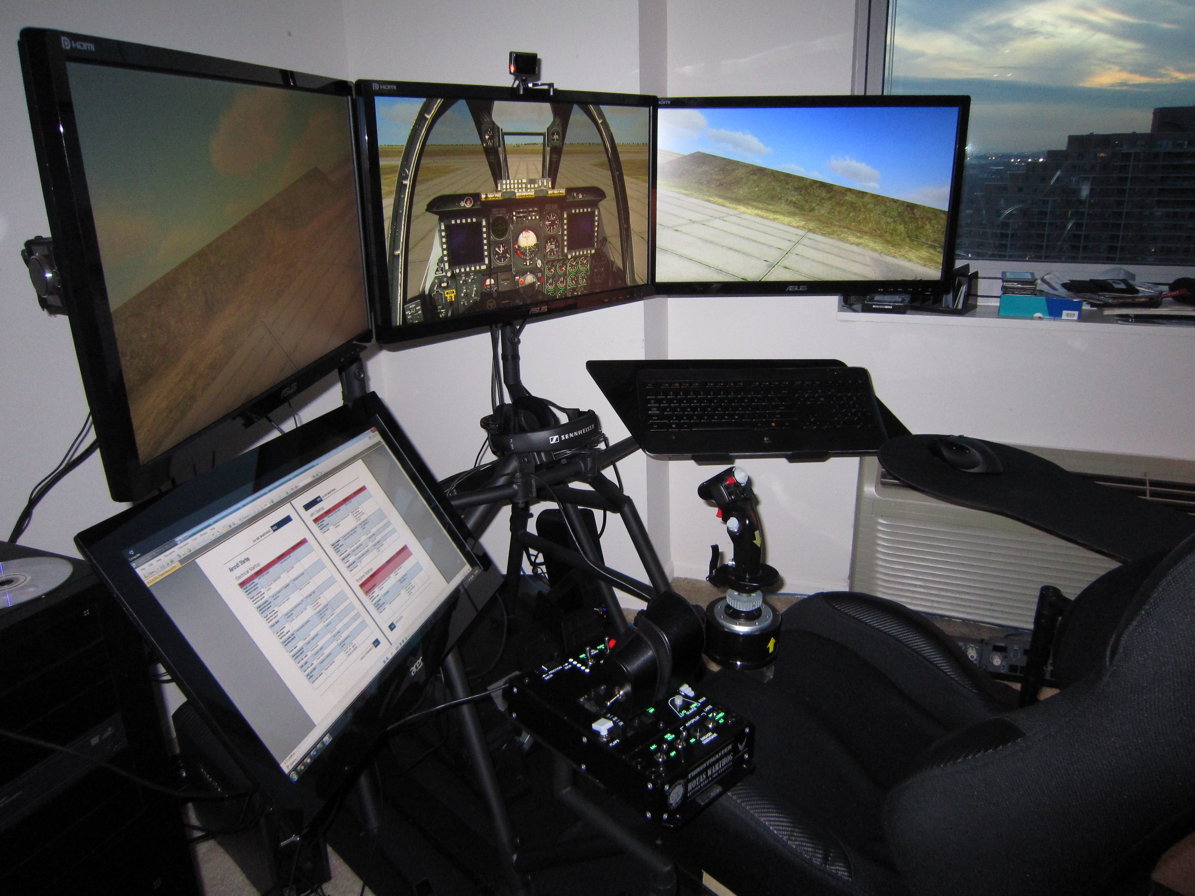 Table/chair to improve sim experience - Home Cockpit Builders - The AVSIM Community